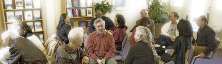 Small-Group Discussions during ECK Worship Service